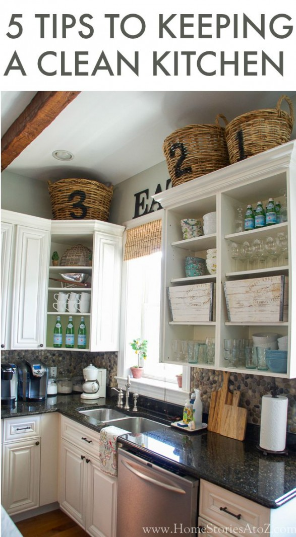 attractive How To Keep Kitchen Clean And Organized #6: 5 Tips to Keeping a Clean Kitchen