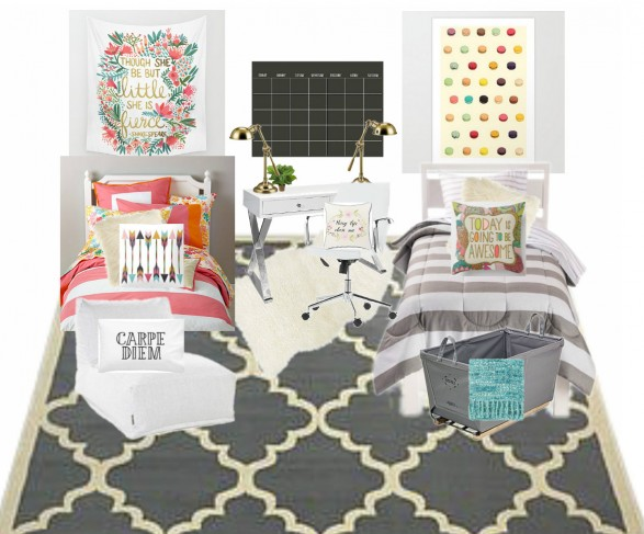 affiliate links to product sources 1 striped bedding 2 though she be fierce wall tapestry 3 macaron poster 4 chalkboard art 5 lamps 6 arrow pillow 7 dorm furniture ideas m