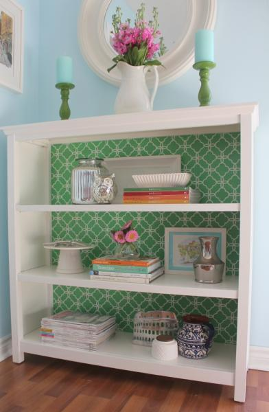 fabric bookcase