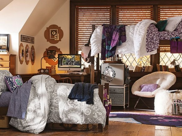 pottery barn dorm room