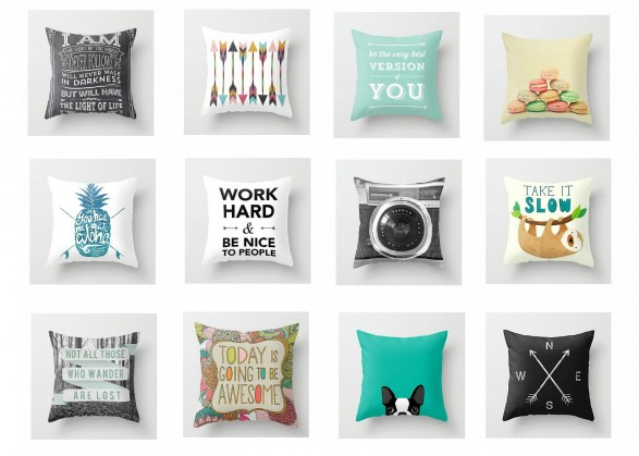 Collection of Inexpensive Toss Pillows