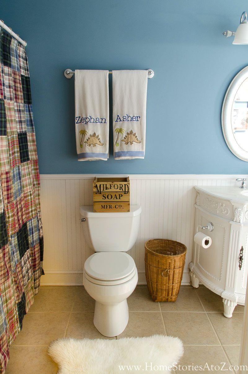 Blue bathroom for boys