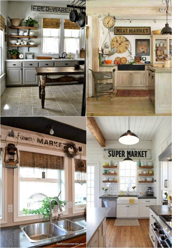 Vintage kitchen signs