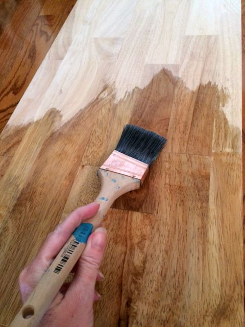 How to achieve a weathered wood stain on furniture for Can you stain driftwood
