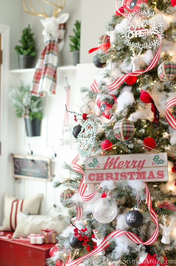 Rustic Christmas tree 12 Bloggers of Christmas