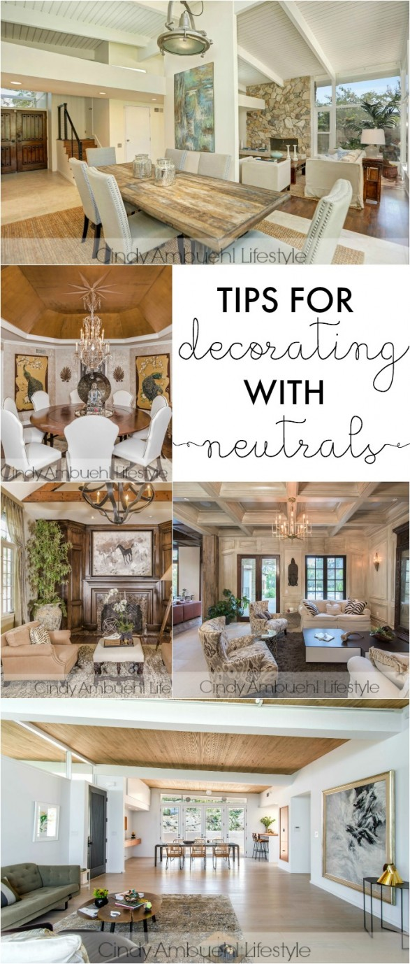 Tips for decorating with neutrals