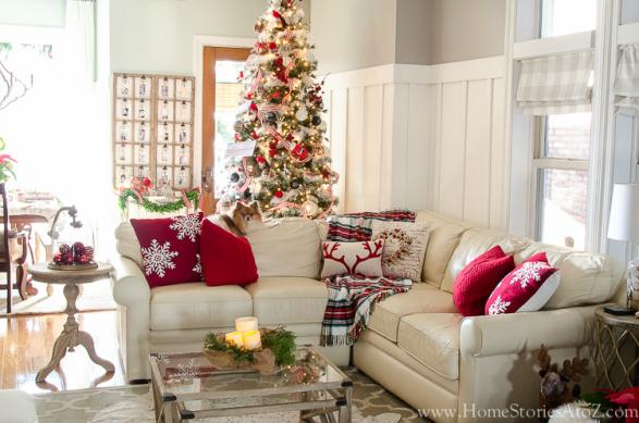 Christmas famiy room