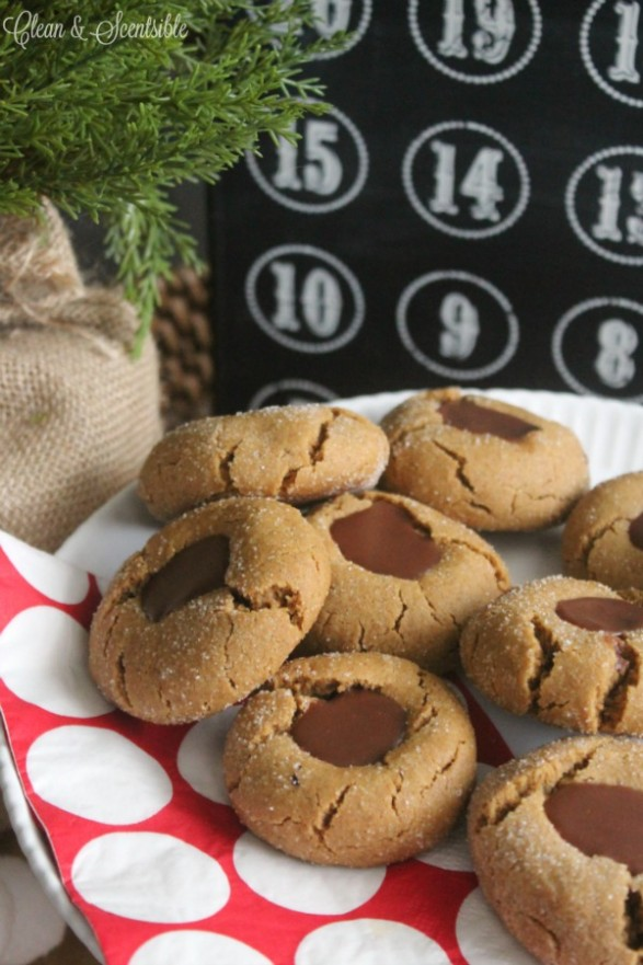 Gingerbread-Chocolate-Thumbprint-Cookies-Recipe