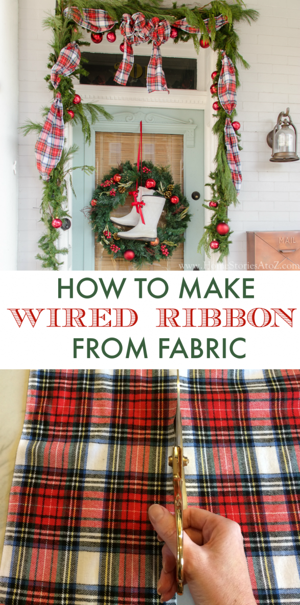 How to make wired ribbon from fabric
