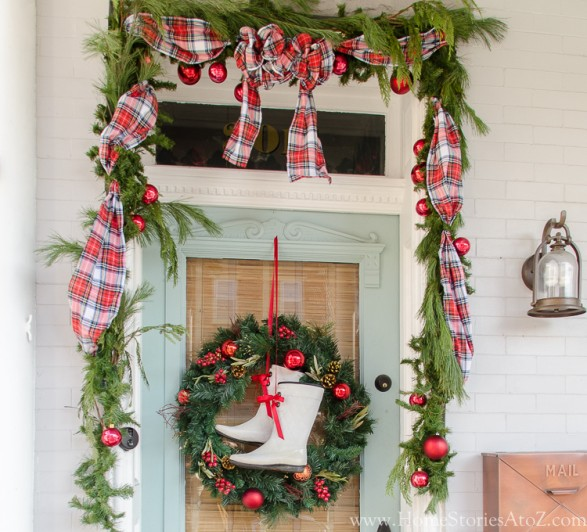 How to make wired ribbon garland from fabric