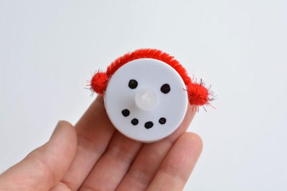 snowman tea light ornament