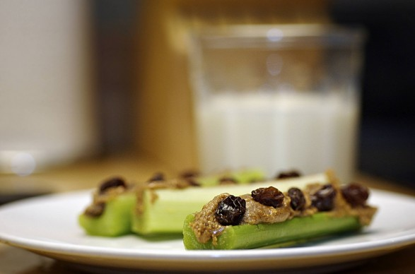 healthy snack ideas ants on a log