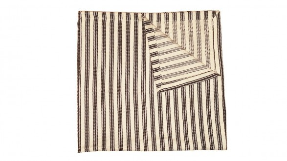Black Ticking Stripe Cloth Napkins