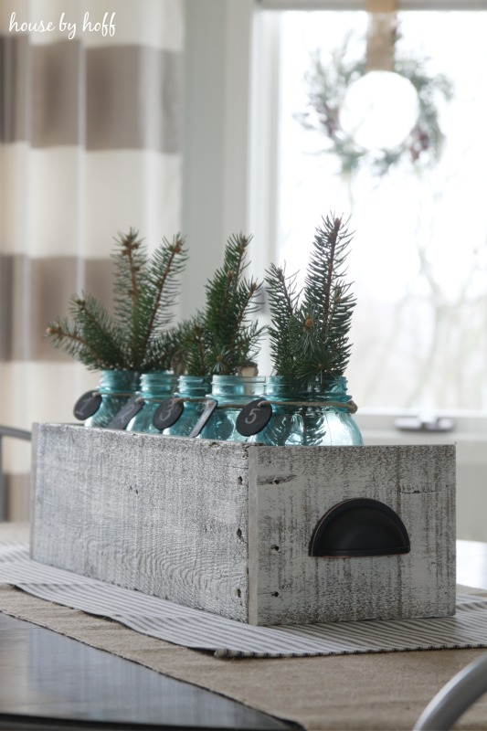 Easy winter centerpiece idea