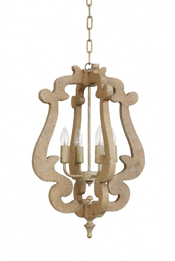 Mini Wood Chandelier