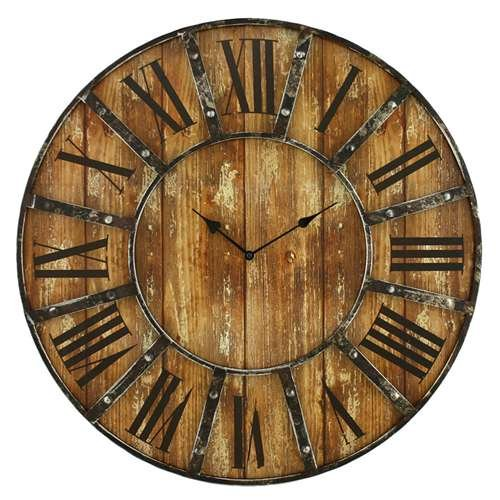 Rustic Wood Wall Clock