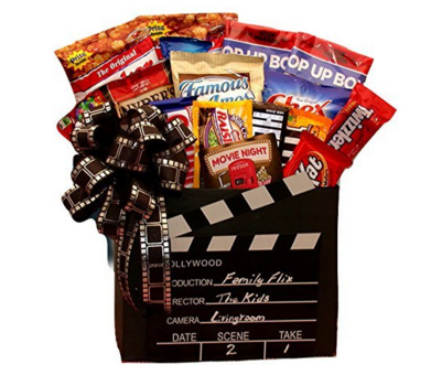 netflix and chill gift basket