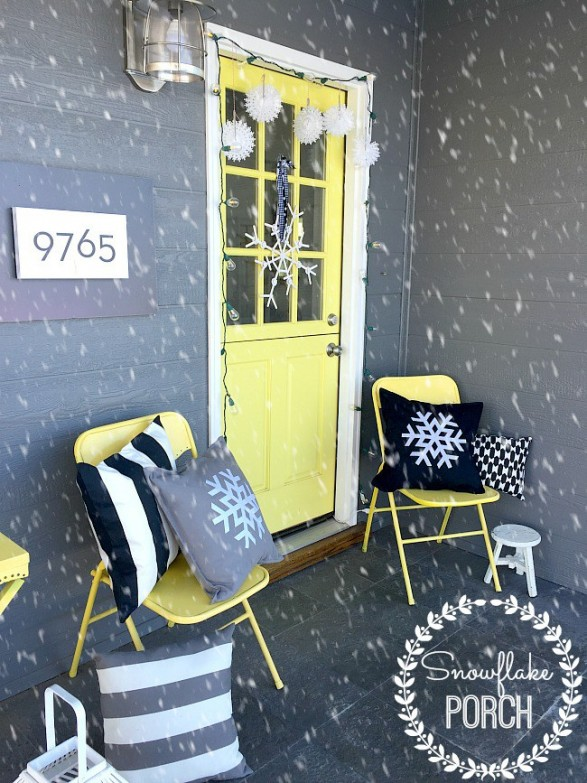 Snowflake porch