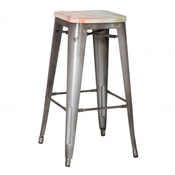 Vintage Metal Counter Stools