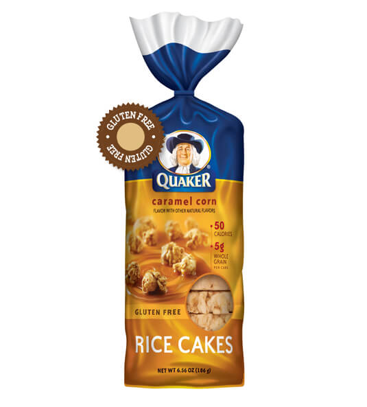 caramel rice cake healthy snack ideas