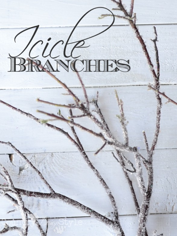 diy icicle branches for winter decor