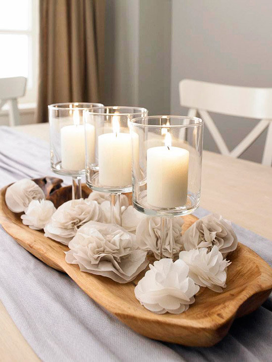 Easy Winter Table Centerpiece Idea