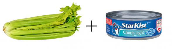 healthy snack idea celery and tuna