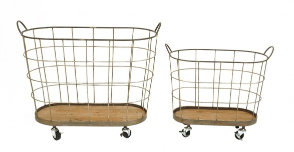 rolling wire pantry baskets