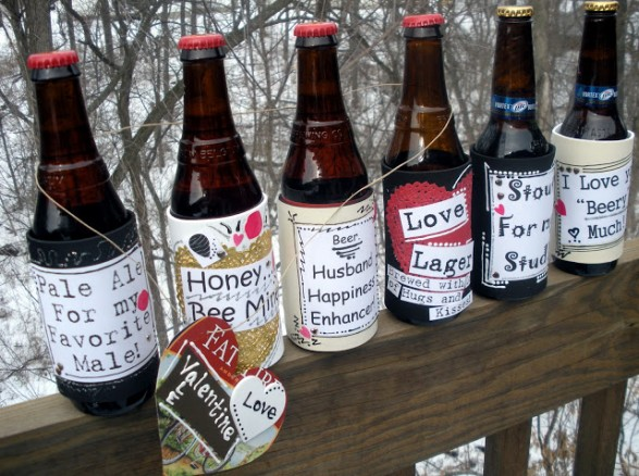 valentine's beer labels