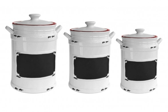 Solid Color Kitchen Canisters