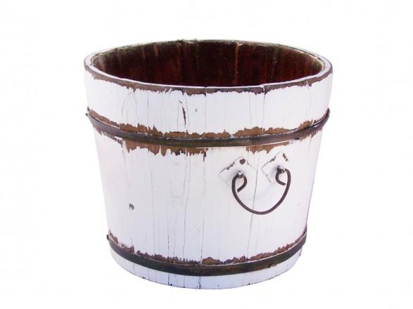 white vintage bucket