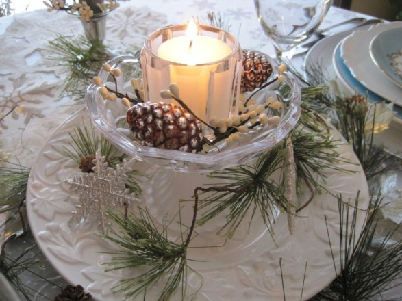 Winter Table Centerpieces Home : Winter tablescape decorating ideas