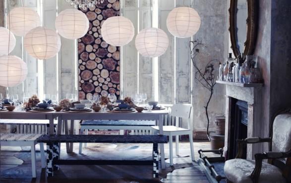 winter dining table decor