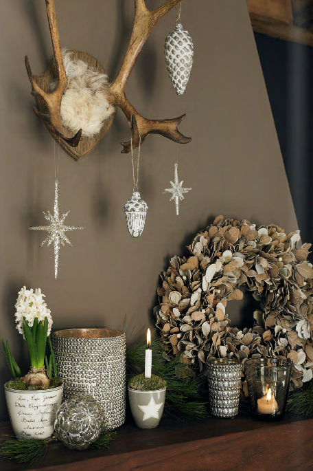 winter mantel idea