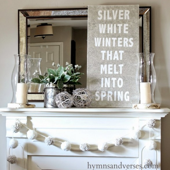 winter mantel ideas