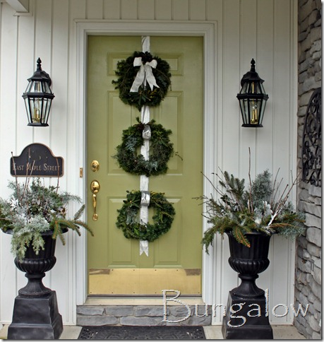 Winter Porch Idea Winter Urns