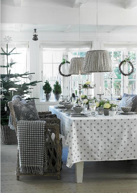 winter tablescape idea