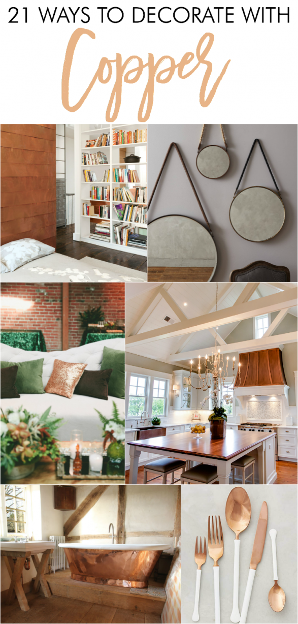 Amazing Beautiful Ways To Decorate With Copper Within The Home. Love The Copper  Home Decor,