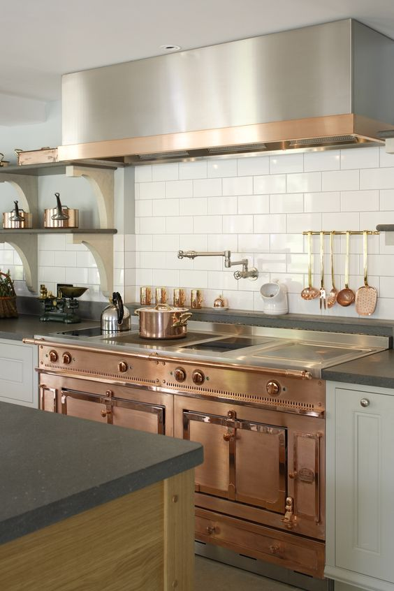 wood copper kitchen accent design | 21 Ways to Decorate with Copper - Home Stories A to Z