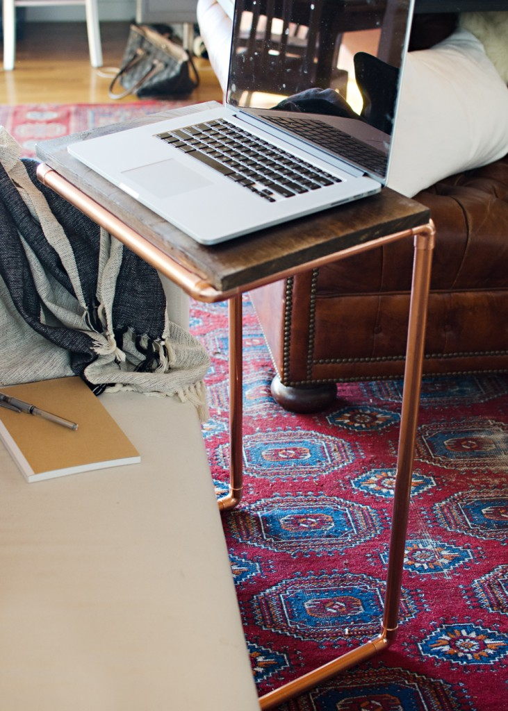 DIY-Copper-Laptop-Table