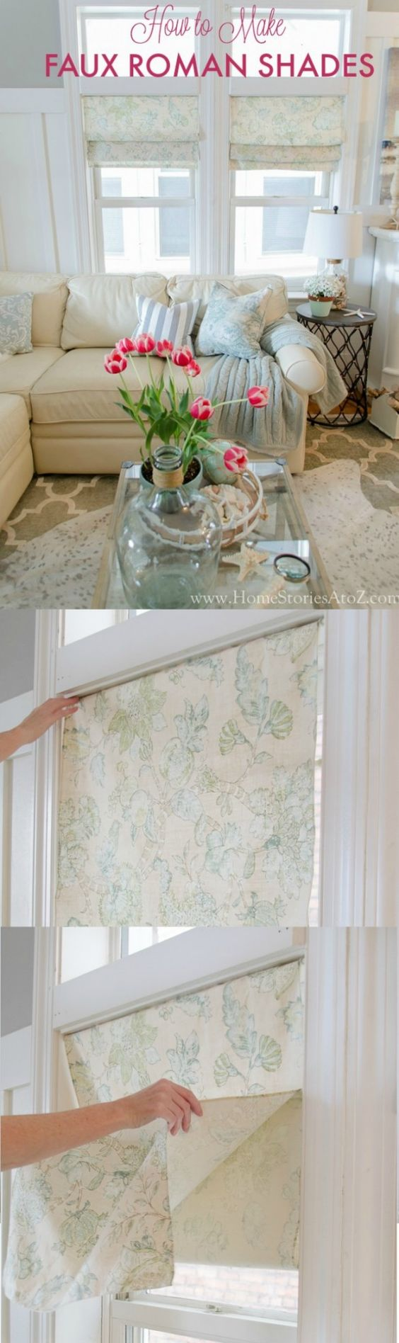 Faux Roman Shade Hack