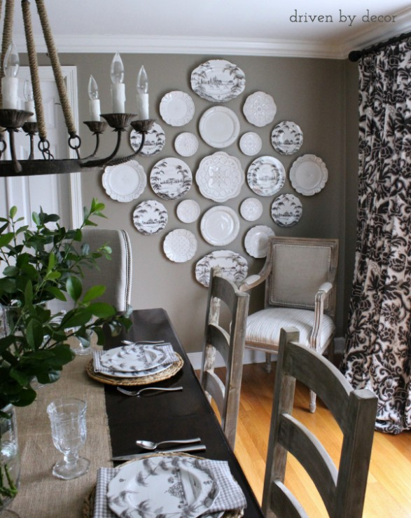 How to decorate with plates on a wall home stories a to z - Decorating walls with pictures ...