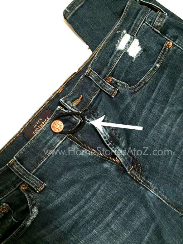 d41a4a329a5d8 Life hack, clothing hack, pant hack for tight jeans