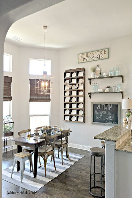 Rustic plate wall