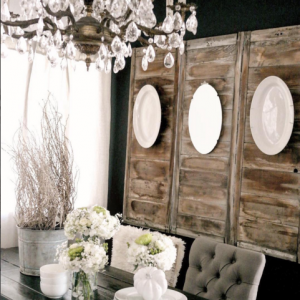 7 tips to creating simple seasonal vignettes home for Rustic dining room wall art