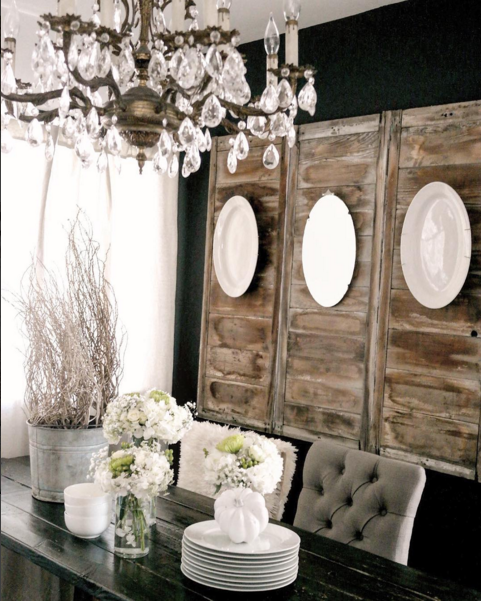 How to decorate with plates on a wall home stories a to z for Dining room decorating ideas rustic