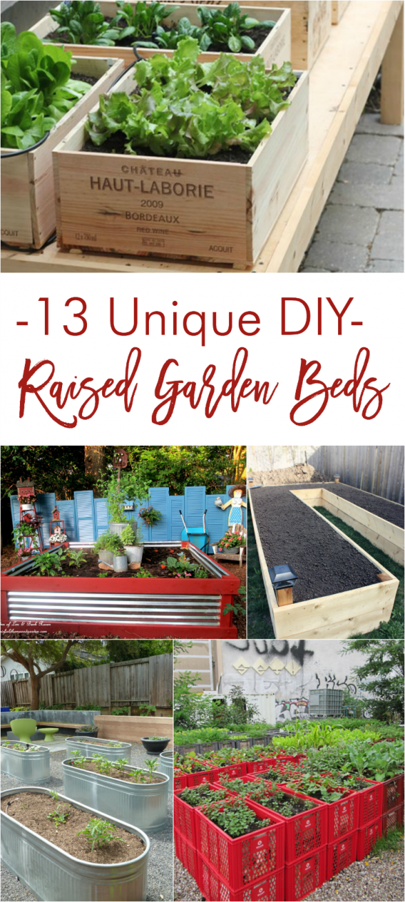 Picture of: 13 Unique Diy Raised Garden Beds