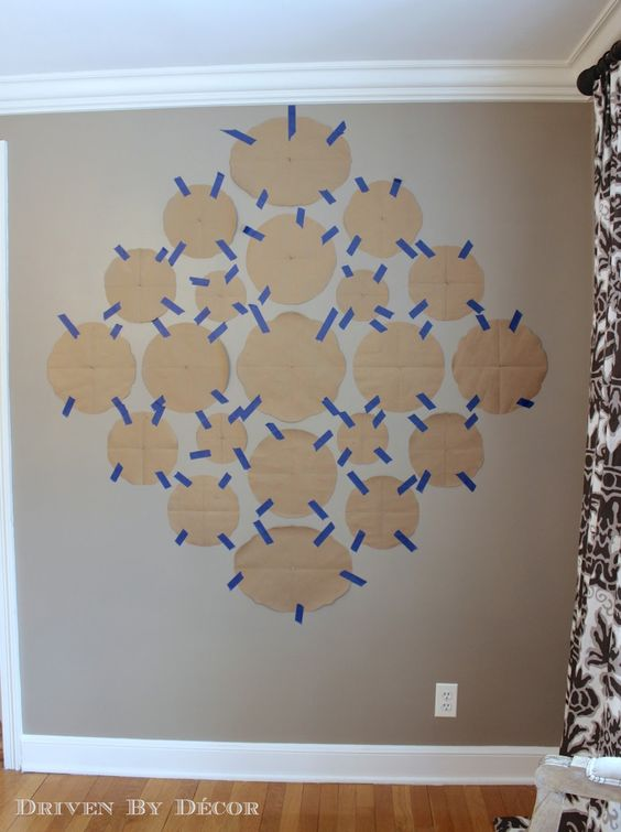Use paper cutouts to map out plate wall
