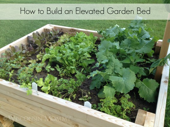 Elevated garden bed tutorial