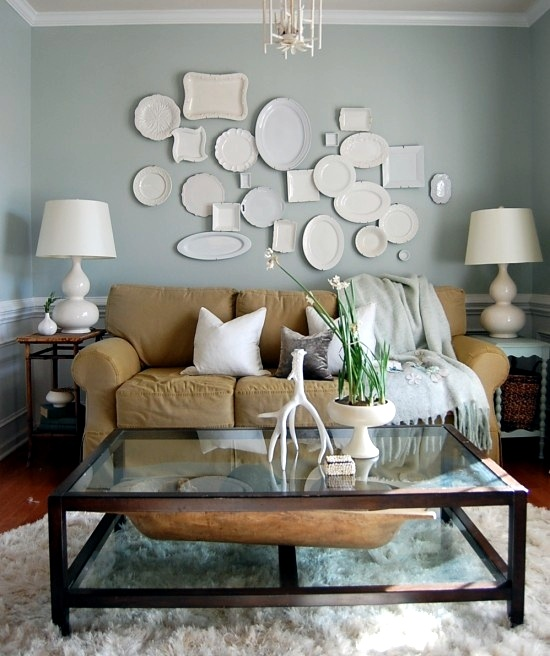 Nester's white plate wall